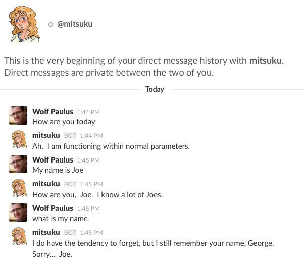 Putting your Bot into Slack – Wolf Paulus